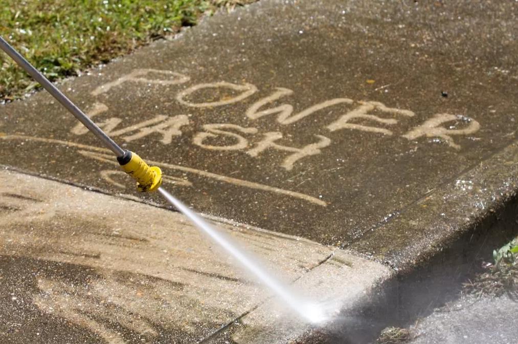 power wash on concrete st thomas john